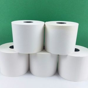 Premier Office - Bundle of 5 White PAPER ROLLS For Adding Machines